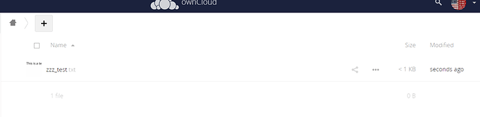 ownCloud Web Listing