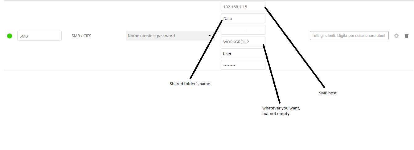 Unable to add and access SMB external mount