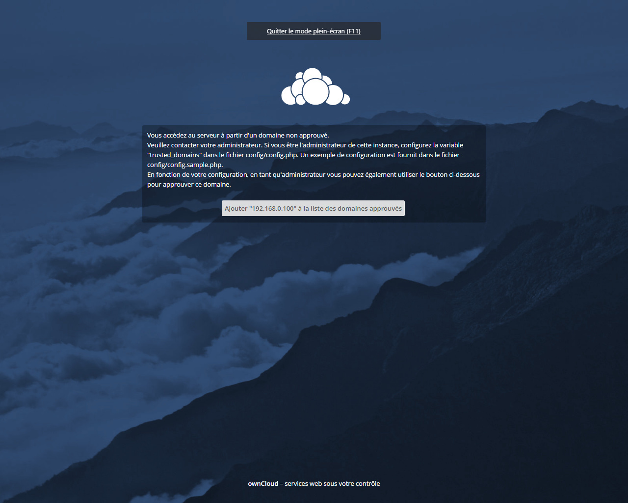 Problem with trusted_domains - Server - ownCloud Central